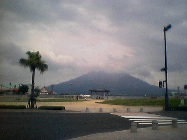 昨日の桜島